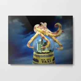 Octopus Attacks New York! Metal Print