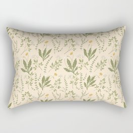 Angelica, Thyme, & Dandelion Rectangular Pillow