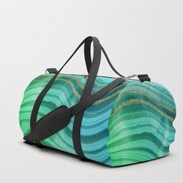 Ocean Blue And Green Mermaid Glamour Marble Duffle Bag
