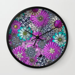 Kitschy Kitsch Jewelry  Pink and Turquoise Wall Clock