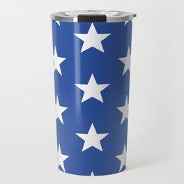 Superstars White on Blue Large Travel Mug