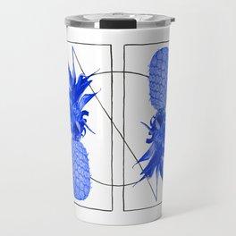 Blue Pineapples design Travel Mug