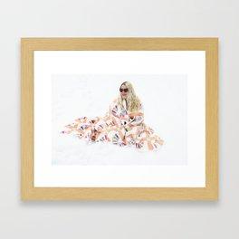 Heart Shaped Glasses Framed Art Print