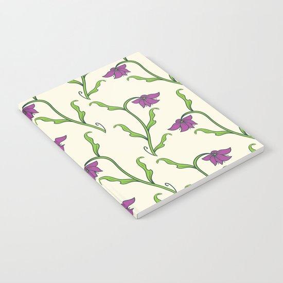 Purple Flower Pattern Notebook
