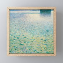 Island in the Attersee Gustav by Klimt Date 1902 // Abstract Oil Painting Water Horizon Scene Framed Mini Art Print