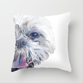 I spy a shih tzu Throw Pillow