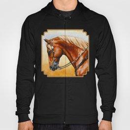 Western Sorrel Quarter Horse Hoody
