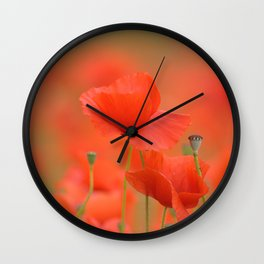 Common red poppies 1876 Wall Clock
