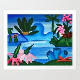Classical Masterpiece 'The Lake' by Tarsila do Amaral Art Print