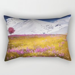 When Flowers Bloom And The Mountains Froze Rectangular Pillow