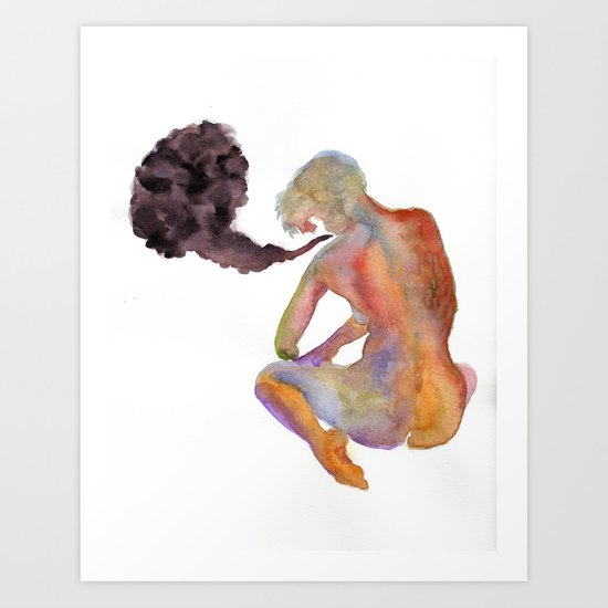 Obscure Thoughts Art Print