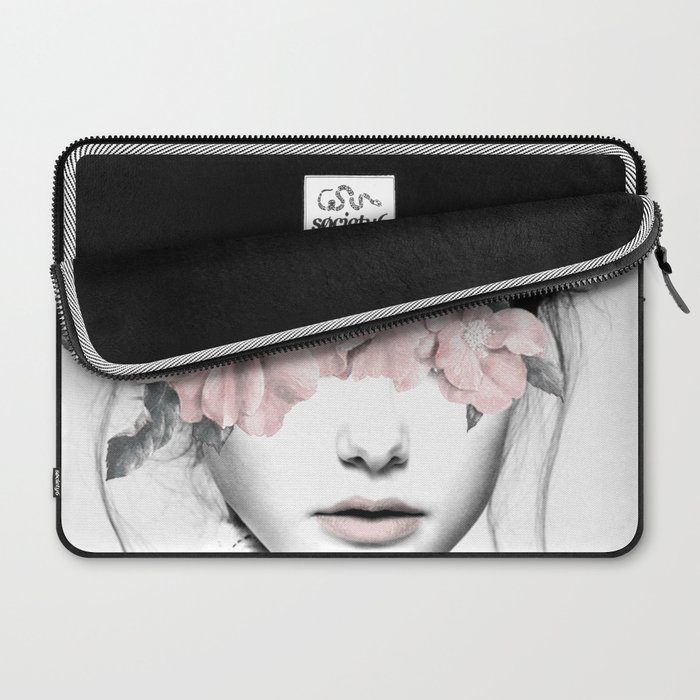 WOMAN WITH FLOWERS 10 Laptop Sleeve