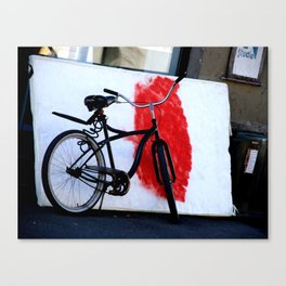 Bike and canvas Canvas Print