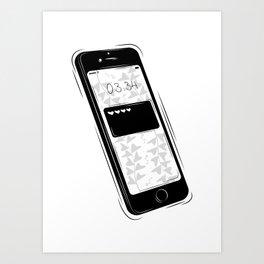 Love text Art Print
