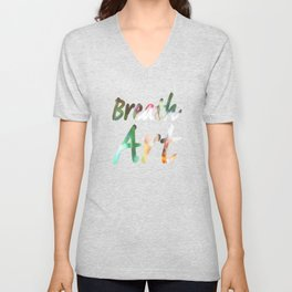 Breath Art #4  Unisex V-Neck