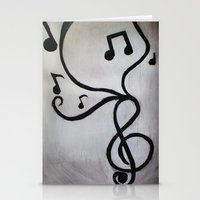music notes Stationery Cards featuring Music Notes by S. Vaeth