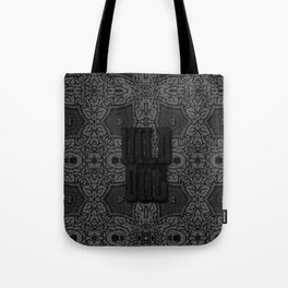 Brain. Mad Witch craft etching. Vintage pattern. Tote Bag