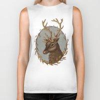 reindeer Biker Tanks featuring Reindeer by Sarah DC