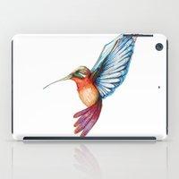 hummingbird iPad Cases featuring Hummingbird by Alejandra Lara