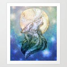 Lunar Wolf Art Print