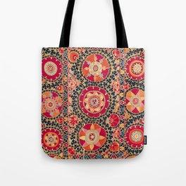 Kermina Suzani Uzbekistan Floral Embroidery Print Tote Bag
