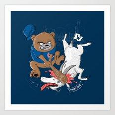 The Goat is Dead! (blue version) Art Print