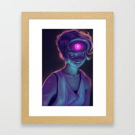 Third Eye (#Drawlloween2016 Series) Framed Art Print