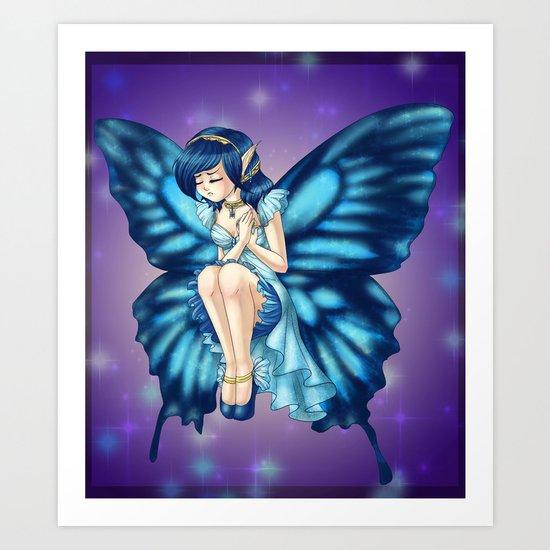 Captive Butterfly  Art Print