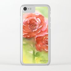 Floral study Clear iPhone Case