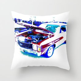 Red Chevelle Throw Pillow