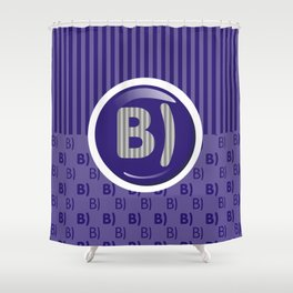 Indigo Writer's Mood Shower Curtain