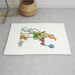 The robot and the animals Rug