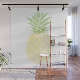 Water Color Pineapple Wall Mural