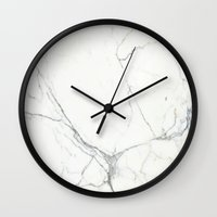 marble Wall Clocks featuring Marble by Patterns and Textures