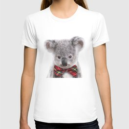 Baby Koala With Bow Tie, Baby Animals Art Print By Synplus T-shirt