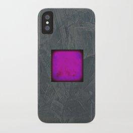 Slate Gray Lavender Fuschia Modern Art iPhone Case