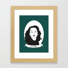Hedy Lamarr Illustrated Portrait Framed Art Print
