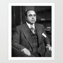 Al Capone In Custody - Chicago Detective Bureau - 1931 Art Print
