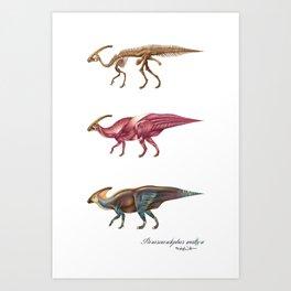 Parasaurolophus Anatomy Art Print