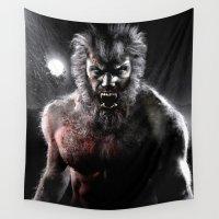 werewolf Wall Tapestries featuring Werewolf by Joe Roberts