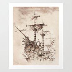 Haunted Ship Art Print