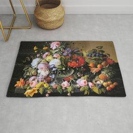Vintage Varnish- Flowers&Fruit Rug