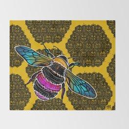 Honeybee lace | Nicole B Roberts Throw Blanket