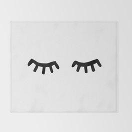 Tired Eyes Throw Blanket