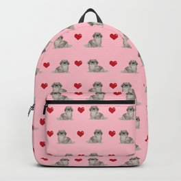 Pekingese hearts love dog breed dog mom gifts for unique dog pure breed owners Backpack