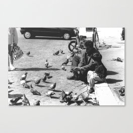 father and son (and a dove) Canvas Print