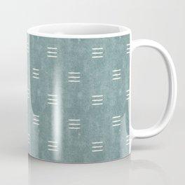 triple dash - dusty blue Coffee Mug