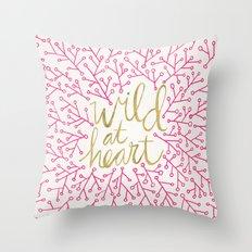 Wild at Heart – Pink & Gold Throw Pillow