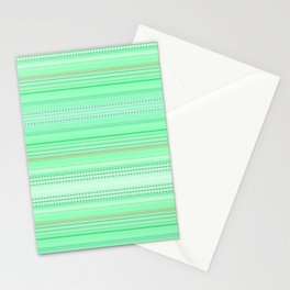 Mint Green Abstract XII Stationery Cards