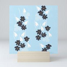 Snowdrops and violets Mini Art Print